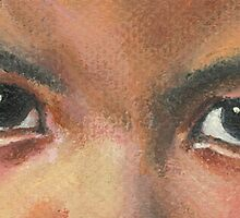 THE EYES OF ISOLATION/Oil on canvas by Marla Brate