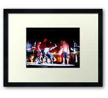 Catching Crabs Framed Print