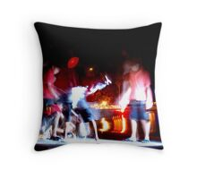 Catching Crabs Throw Pillow