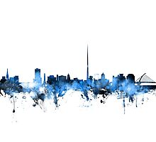 Dublin Ireland Skyline Photographic Print