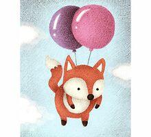 Balloon Fox by riaartworld
