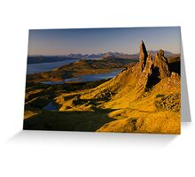 Sunrise at Old Man of Storr, Isle of Skye Greeting Card