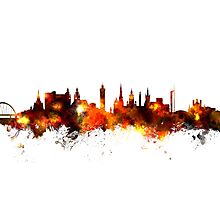 Glasgow Scotland Skyline Photographic Print
