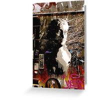 Graffiti Bust Greeting Card