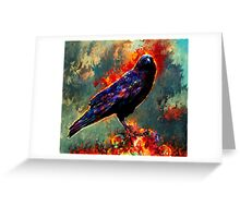 game of thrones raven Greeting Card