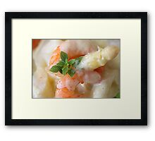 Asparagus With Crabs  Framed Print