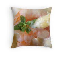 Asparagus With Crabs  Throw Pillow