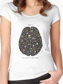 Your Brain On Video Games  Women's Fitted Scoop T-Shirt