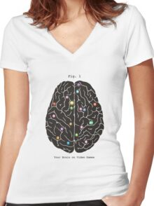Your Brain On Video Games  Women's Fitted V-Neck T-Shirt