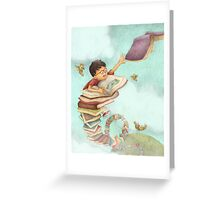 Jack and the Book-Stalk Greeting Card