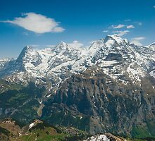 Eiger, Mönch and Jungfrau by peterwey