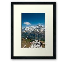 Eiger, Mönch and Jungfrau Framed Print