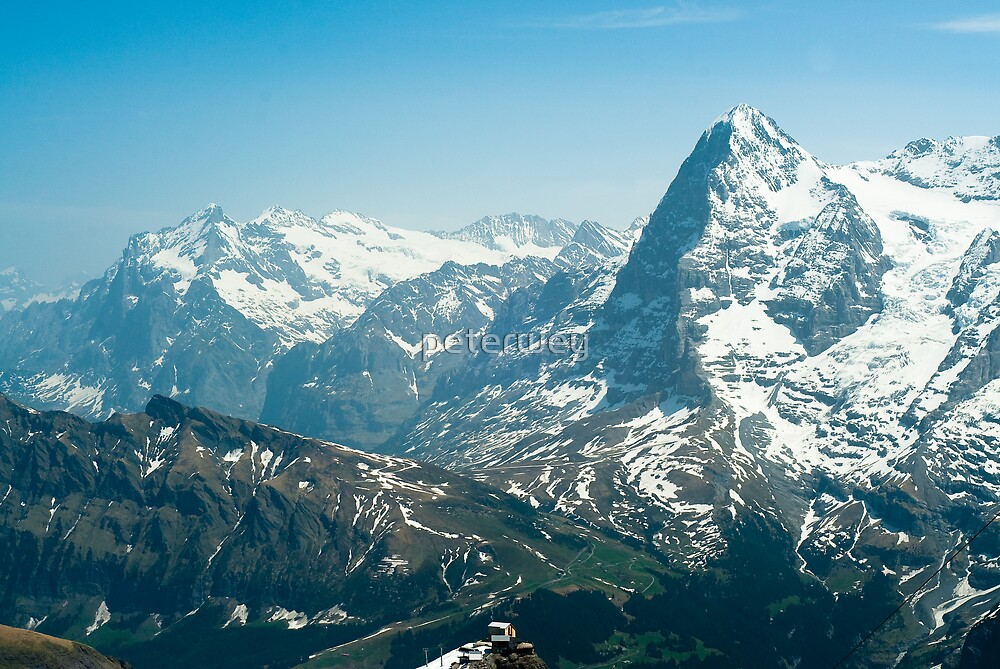 Wetterhorn and Eiger by peterwey