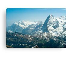 Wetterhorn and Eiger Canvas Print