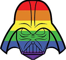 Rainbow Darth Vader by instinCKt
