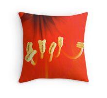 Amaryllis Pollen Throw Pillow