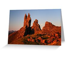 First light - Old Man of Storr Greeting Card