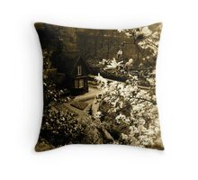 The Gingerbread Cottage Throw Pillow