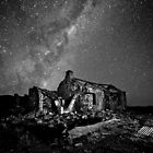 Eroding Farm and our Galaxy  B&W by pablosvista2