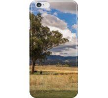 Rural View on Gundy Road, Scone NSW, Australia iPhone Case/Skin