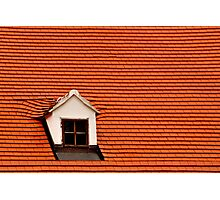 Red Roof and Window Photographic Print