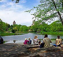 Quiet moment in Central Park, Manhattan, New York by coralZ