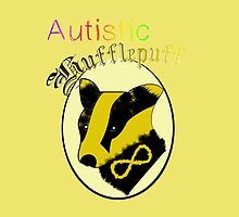 Autistic Hufflepuff (white outline) by shego1142