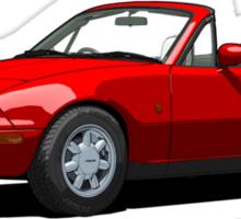 Mazda MX-5 MK1 Classic Red Sticker