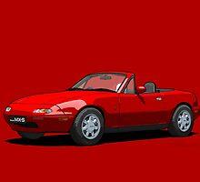 Mazda MX-5 MK1 Classic Red by DigitalCel