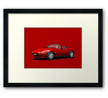 Mazda MX-5 MK1 Classic Red Framed Print