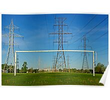 High voltage on soccer fields Poster