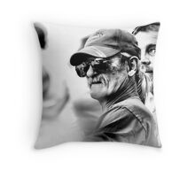 Faces in the Crowd Throw Pillow