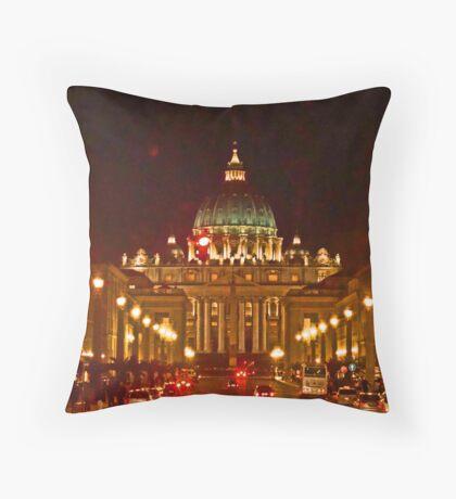 St. Peter's - Evening Throw Pillow