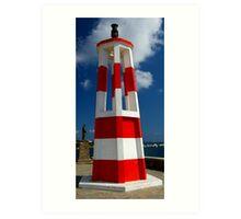 Harbour light Art Print