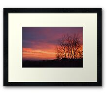 Breathtakingly beautiful sunrise Framed Print