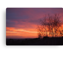 Breathtakingly beautiful sunrise Canvas Print