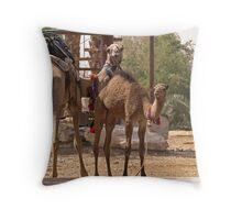 Camels Throw Pillow