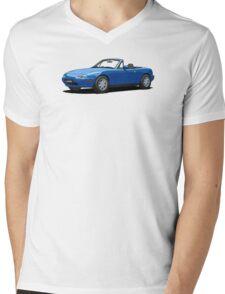 Mazda MX-5 MK1 Mariner Blue Mens V-Neck T-Shirt