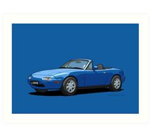 Mazda MX-5 MK1 Mariner Blue Art Print