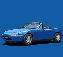 Mazda MX-5 MK1 Mariner Blue by DigitalCel