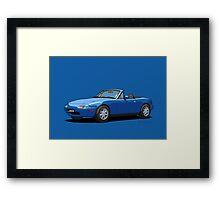 Mazda MX-5 MK1 Mariner Blue Framed Print