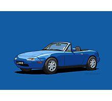 Mazda MX-5 MK1 Mariner Blue Photographic Print