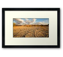 parched ground in the Aravah desert, Israel Framed Print