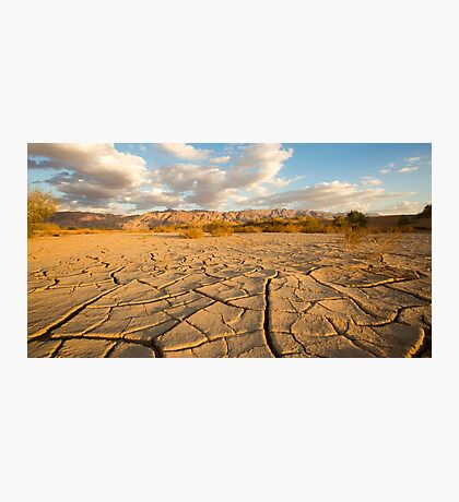 parched ground in the Aravah desert, Israel Photographic Print