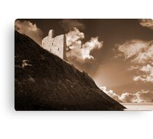 ballybunion castle and the cliff face Canvas Print
