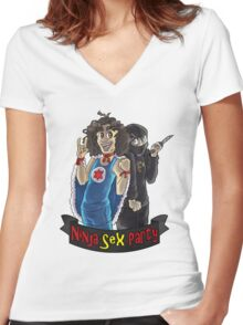 NSP Ready to Rock Women's Fitted V-Neck T-Shirt