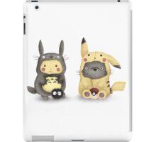 Totoro and Pikachu in Cosplay Fan Art iPad Case/Skin