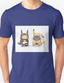 Totoro and Pikachu in Cosplay Fan Art T-Shirt