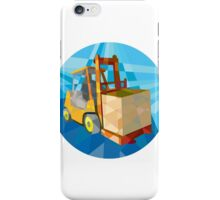 Forklift Truck Materials Box Circle Low Polygon iPhone Case/Skin
