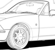 Mazda MX-5 MK1 Line Illustration Sticker